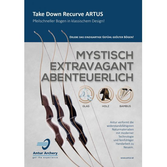 Bild 9 - Antur Artus Take Down Recurve Black/Cherry-Set